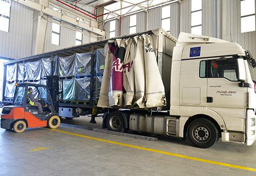 Transporte con carga completa nacional e internacional Vigo